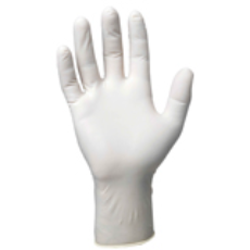 GLOVES DISPOSABLE LATEX LARGE POWDERED 100 PKT