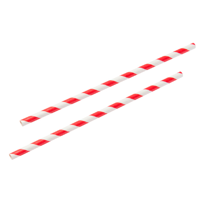 PAPER STRAWS RED/WHITE 250/PKT