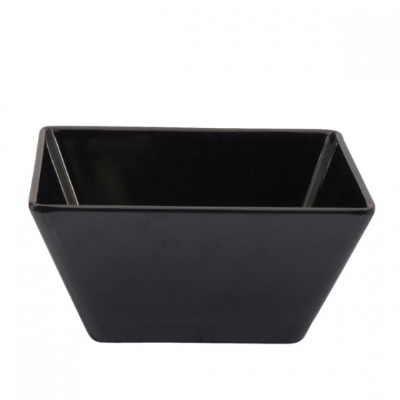 RYNER MELAMINE SQUARE BOWL BLACK 180x180x42mm