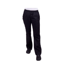 PROCHEF WOMENS DRAWSTRING BLACK PANTS SIZE 12