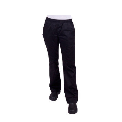 PROCHEF WOMENS DRAWSTRING BLACK PANTS SIZE 14