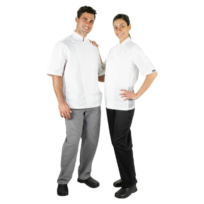 PROCHEF PROCOOL CHEF JACKET MEDIUM WHITE SHORT SLEEVE