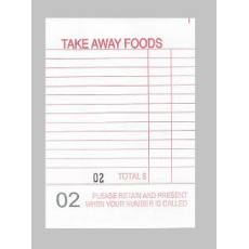 DOCKET BOOK TAKE AWAY RED PERF CLAIM SLIP 100 PAGE 10PKT