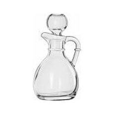 LIBBEY GLASS OIL POURER WITH STOPPER 177ml