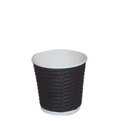 ESPRESSO CUP WAVE BLACK 4oz 25PKT 1000CTN DISPOSABLE