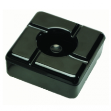 BLACK WINDLESS ASHTRAY MELAMI NE 115mm x 115mm