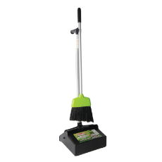 SABCO LOBBY PAN AND BROOM SET PLASTIC WITH ALUMINIUM HAN DLE