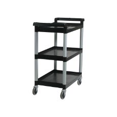 UNICA CART 3 TIER BLACK SMALL 900H x 710L x 420mmW