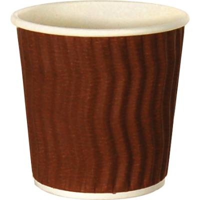ESPRESSO CUP WAVE BROWN 4oz 25PKT 1000CTN DISPOSABLE