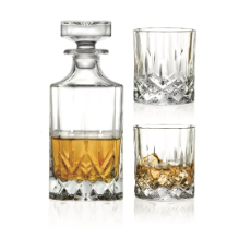 RCR OPERA WHISKY DECANTER 750ml WITH 2 300ml DOF TUMBLER