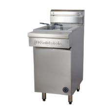 GOLDSTEIN V PAN GAS FRYER HIGH PERFORMANCE TWIN BASKET LINE UP