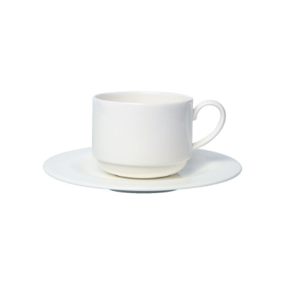 ASCOT COFFEE CUP STACKABLE 220ml SAUCER SOLD SEPARATELY