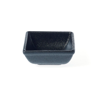TABLEKRAFT BLACK SAUCE DISH SQUARE 80x80x35mm