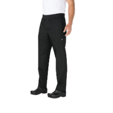CHEF WORKS CHEF PANTS SLIM FIT BLACK LIGHTWEIGHT XLARGE