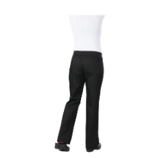 CHEF WORKS WOMENS CHEF PANTS SLIM FIT BLACK LIGHTWEIGHT MEDIUM