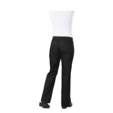 CHEF WORKS WOMENS CHEF PANTS SLIM FIT BLACK LIGHTWEIGHT LARGE