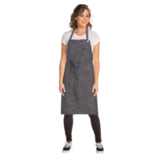 CORVALLIS BIB APRON GREY WITH POCKET 86cmLx76cmW