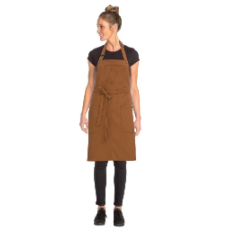 ROCKFORD BIB APRON NUTMEG WITH POCKETS 87cmLx76cmW