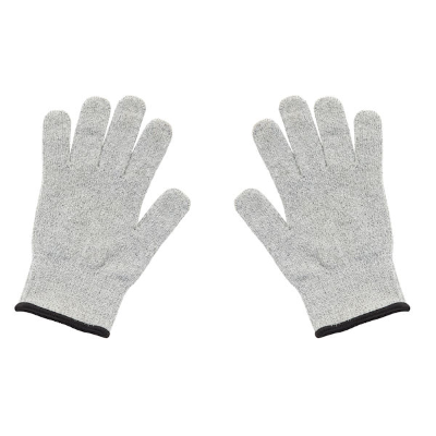 CUT RESISTANT GLOVES SET 2 GREY/BLACK