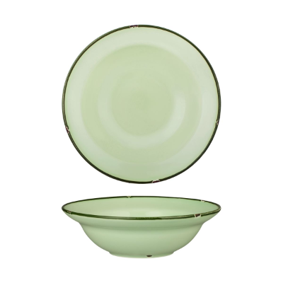 LUZERNE TINTIN GREEN/GREEN RIM DEEP BOWL 240mm