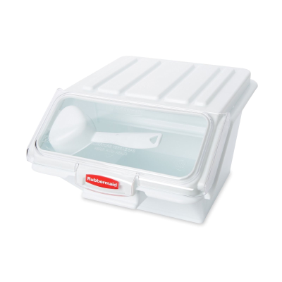RUBBERMAID PROSAVE 40 CUP INGREDIENT BIN WHITE WITH SCOOP