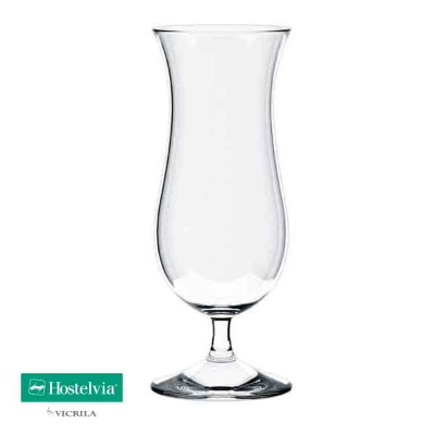 VICRILA BLUE HAWAII 490ml  TULIP COCKTAIL GLASS TEMPERED