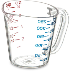 CARLISLE COMMERCIAL MEASURING JUG 250ml CLEAR POLYCARB
