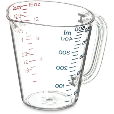 CARLISLE COMMERCIAL MEASURING JUG 500ml CLEAR POLYCARB