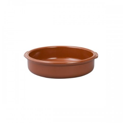 REGAS CASSEROLE DISH 250mm WITH HANDLE TERRACOTTA