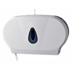 DOUBLE JUMBO TOILET ROLL DISPENSER PLASTIC