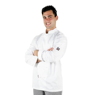 PROCHEF WHITE JACKET XLARGE WITH BUTTONS