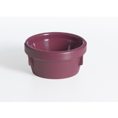 HEALTH CARE INSULATED SOUP BOWL 125mm NO LID BURGUNDY