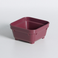 HEALTH CARE SQUARE BOWL 100mm BURGUNDY