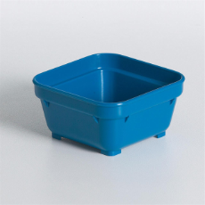 HEALTH CARE SQUARE BOWL 100mm BLUE