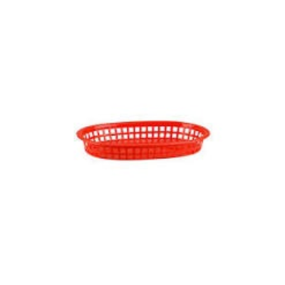 RECTANGLE BREAD BASKET 270mm x180x40mm RED POLYPROPYLENE