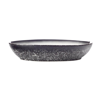 MAXWELL WILLIAMS CAVIAR OVAL BOWL 25x17cm GRANITE