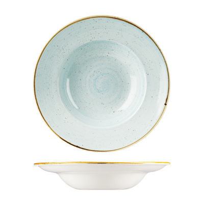 CHURCHILL STONECAST WIDE RIM BOWL 280mm DUCK EGG