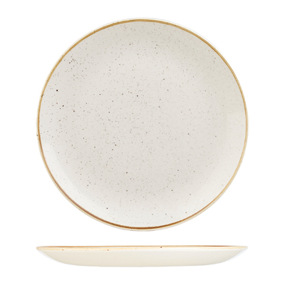CHURCHILL STONECAST ROUND COUPE PLATE 288mm BARLEY WHITE