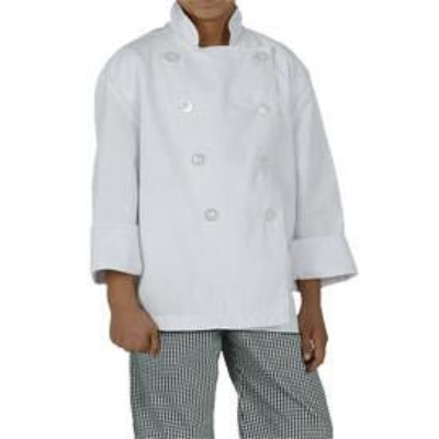 CHEF WORKS KIDS CHEF JACKET WHITE SMALL AGE 6-7