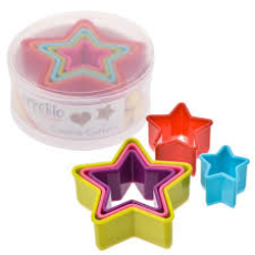 DLINE STAR COOKIE CUTTERS SET 5 MULTI COLOURS