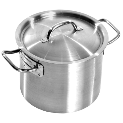SUPERIOR STOCKPOT S/S 12ltr 240X220mm WITH LID