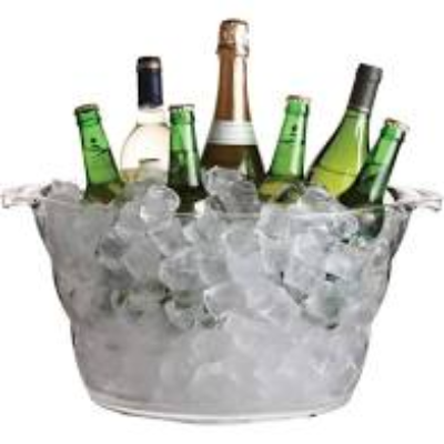 BAR CRAFT DRINKS PAIL/COOLER ACRYLIC 47x28x23cm