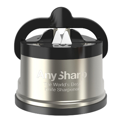 ANY SHARP PRO METAL KNIFE SHARPENER GUNMETAL GREY/BLK 6x6x5cm