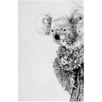 MAXWELL WILLIAMS WILDLIFE TEA TOWEL 50x70cm KOALA ON GUM TREE