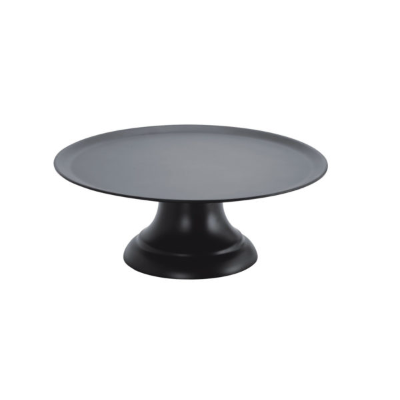 ZICCO CAKE PLATE WITH STAND BLACK POLYCARBONATE 239mm