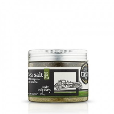 SALT ODYSSEY SEA SALT WITH OREGANO AND SESAME 150g
