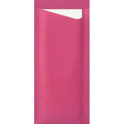 POCHETTA CUTLERY POUCH PINK 85X190mm WITH 3PLY NAPKIN 330X330mm CTN 250