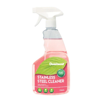 DOMINANT ECO FRIENDLY PLANT BASED STAINLESS STEEL CLEANER 750ml TRIGGER BOTTLE