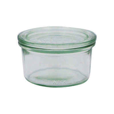 WECK 165ml GLASS JAR WITH LID PRESERVE SERVING 80x47mm