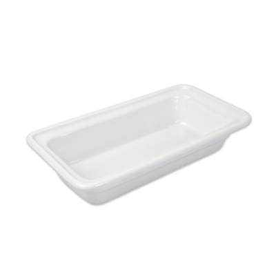 CERAMIC FOOD PAN 1/3 SIZE 65mm WHITE